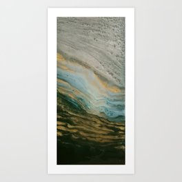 gold and green  Art Print