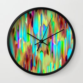 Colorful digital art splashing G505 Wall Clock