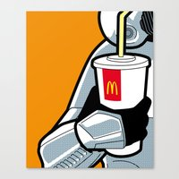 the secret life of heroes Canvas Prints featuring The secret life of heroes - StormDrink by Greg-guillemin
