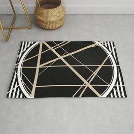 Crossroads - circle/line graphic Rug