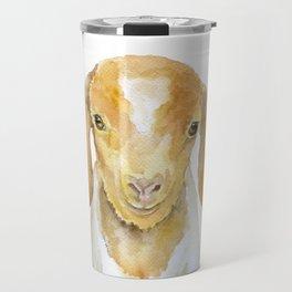 Nubian Goat Head Watercolor Travel Mug