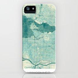 Vancouver Map Blue Vintage iPhone Case