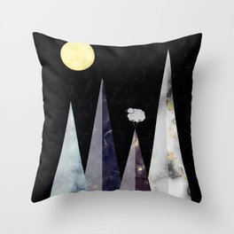 Marbled Mountains Throw Pillow