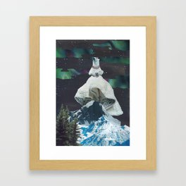 Aurora: Goddess of the Northern Lights and Keeper Keeper of Stars Framed Art Print