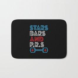 Stars, Bars And PRs Bath Mat