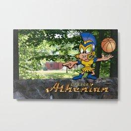 Little Athenian Basketball Metal Print