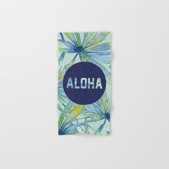 Aloha - blue version Hand & Bath Towel