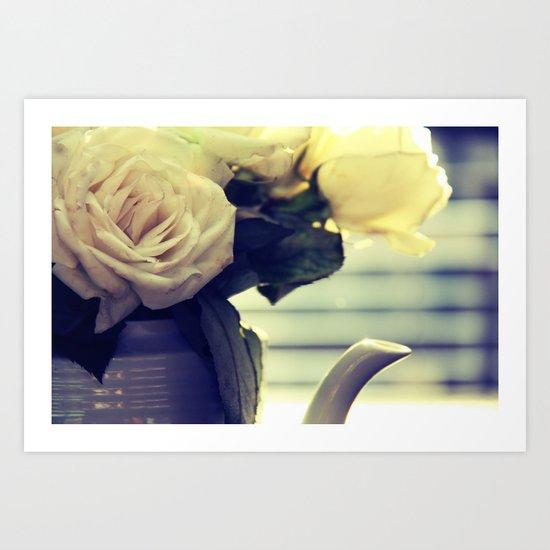 White Rose Tea  Art Print