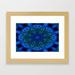 Battling At The Chasm Mandala 8 Framed Art Print