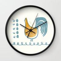 swedish Wall Clocks featuring Swedish Hen by Chet and Dot