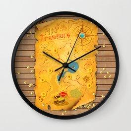 Treasure Map Wall Clock
