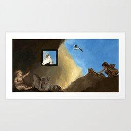 Horse and Child Children's book illustration Art Print