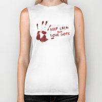 gore Biker Tanks featuring Love Gore by Victor Rodriguez