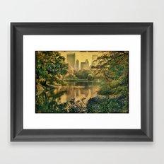 Central Park In Fall Framed Art Print