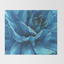 Big blue flower Throw Blanket