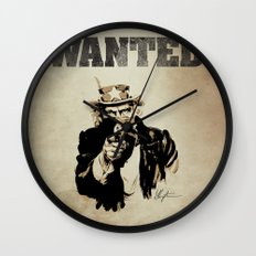 Wanted Poster Wall Clock