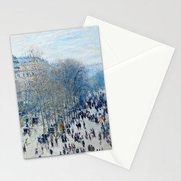 Claude Monet - Boulevard Des Capucines Stationery Cards