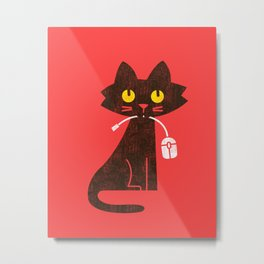 Fitz - Hungry hungry cat (and unfortunate mouse) Metal Print