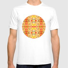 Modified Palettes White Mens Fitted Tee MEDIUM