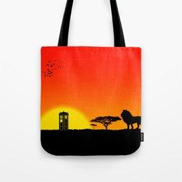 Tardis Sunset Tote Bag