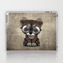 Cute Nerdy Raccoon Wearing Glasses Laptop & iPad Skin