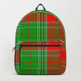 Christmas Lumberjack Plaid Backpack