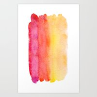 gradient Art Prints featuring Gradient by Diego Tirigall