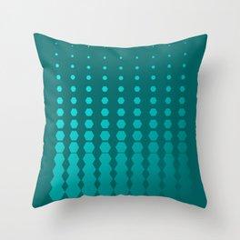 Fading Hexagon Pattern Throw Pillow