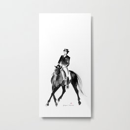 Horse (Dressage / half pass) Metal Print