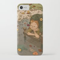 bouletcorp iPhone & iPod Cases featuring La rivière aux tortues by Bouletcorp