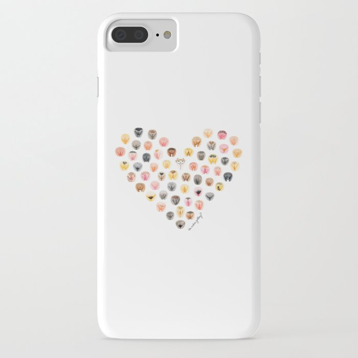 vulva heart iphone case