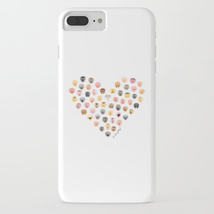 vulva heart iphone case