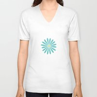 daisy V-neck T-shirts featuring Daisy by Amy Newhouse