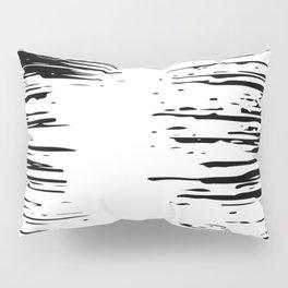 Splash Black and White Pillow Sham