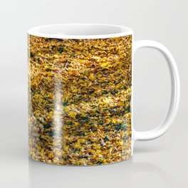Brown Dried Autumn Leaves Background In Fall Season, Autumn Season, Fall Forest, Falling Leaves Coffee Mug