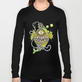 Slick Fish with Bubbles - Girly Pink Long Sleeve T-shirt