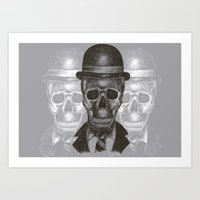Worked To Death (Grey version) Art Print