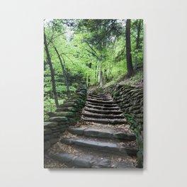 Stairway To Spring - Letchworth Metal Print