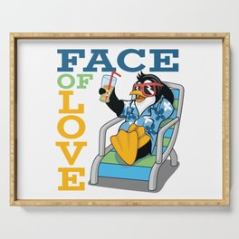 Funny Duck Face of Love Serving Tray