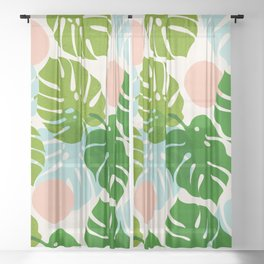 Abstraction_FLORAL_NATURE_Minimalism_001 Sheer Curtain