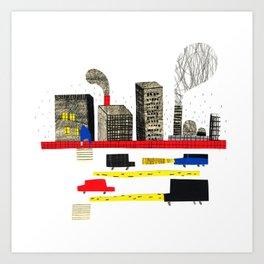 Small City Stories II Art Print