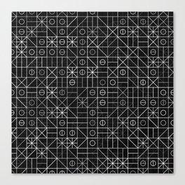Black and White Random Grid Canvas Print