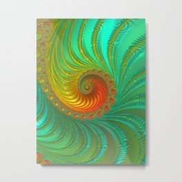 Ripple Effect - Fractal Art  Metal Print