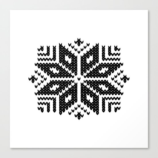 knit flake Canvas Print
