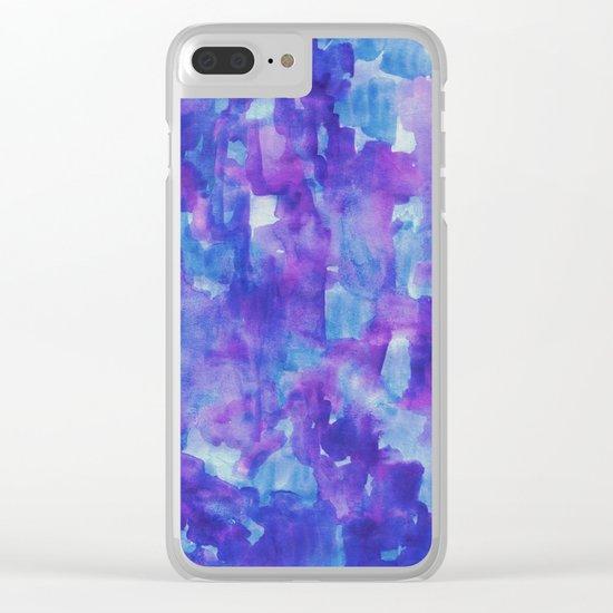 Blue & Purple Clear iPhone Case