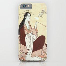 Komurasaki, a courtesan from the Tsunotamaya house  iPhone Case
