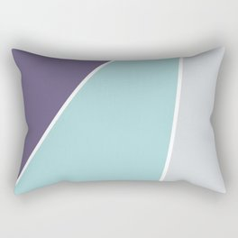Diagonal Color Block in Gray, Turquoise and Purple Rectangular Pillow