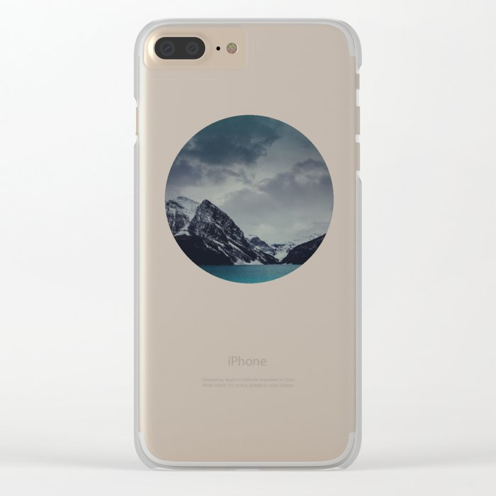 Lake Louise Winter Landscape Clear iPhone Case