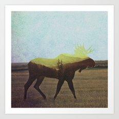 Moose Art Print