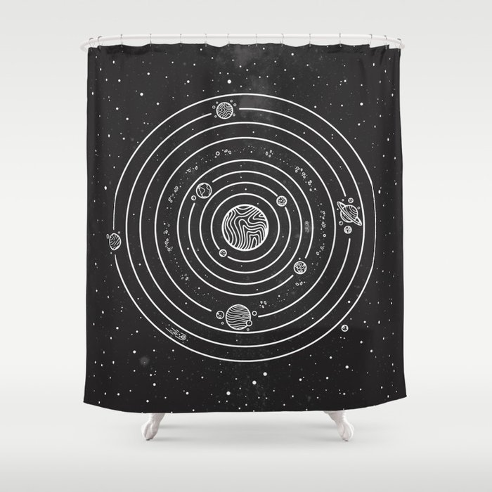SOLAR SYSTEM Shower Curtain By Neolrond3